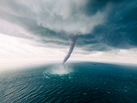 Tornado in the sea