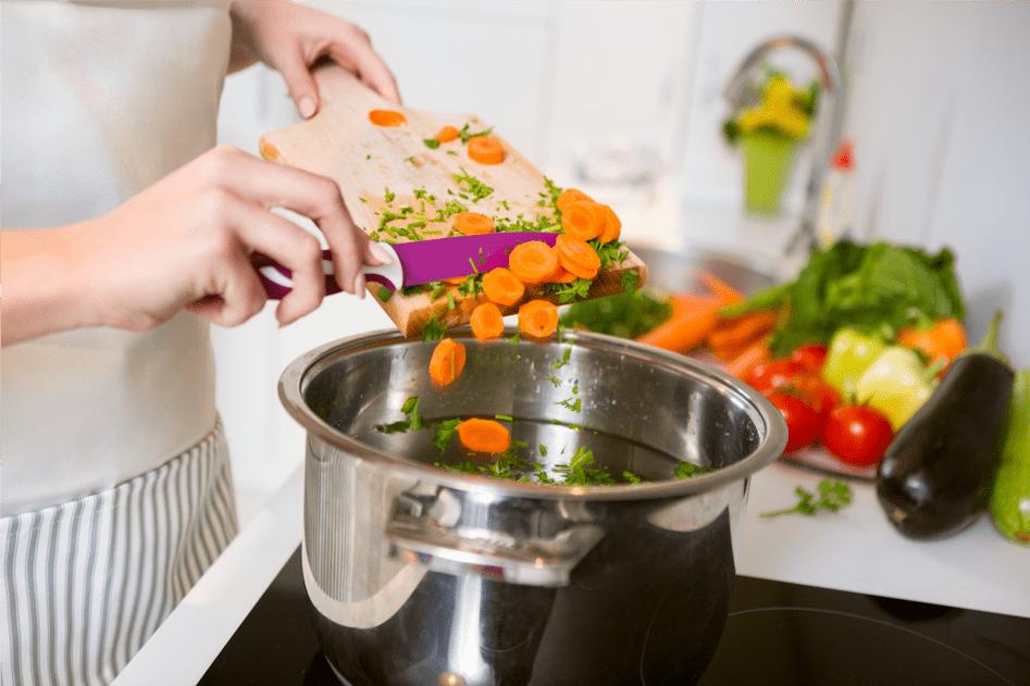 légumes cuit à l'eau biodynamisée
