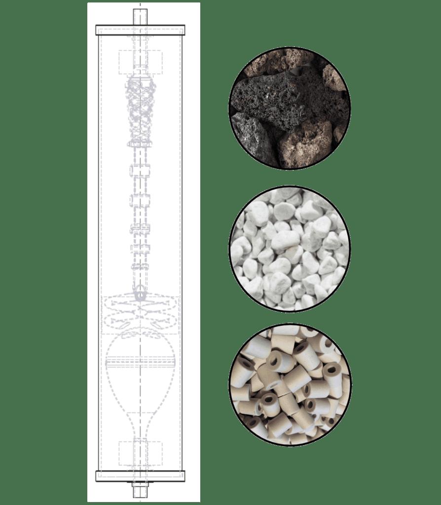 Fréquences minérales, roche de lave, marbre de carrare, micro organismes informés