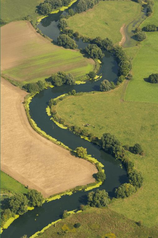 Rivière en serpentin
