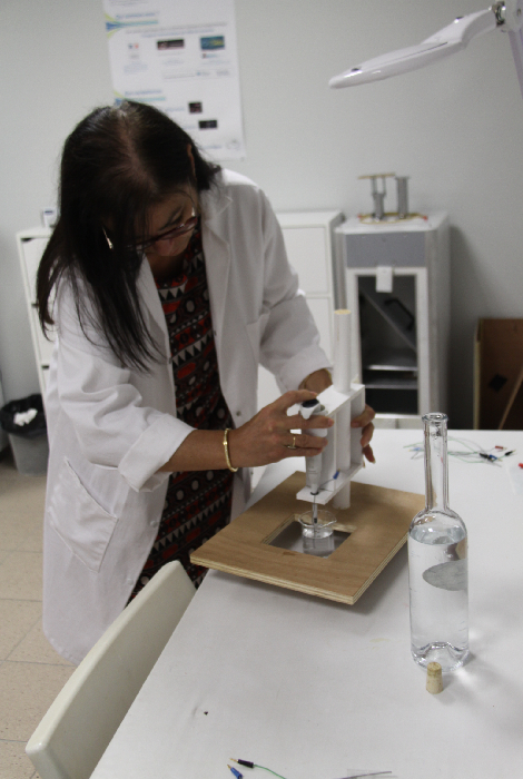 Processus analyse électrophotonique-labo