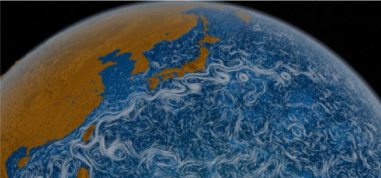 Vortex dans les océans - images de la Nasa