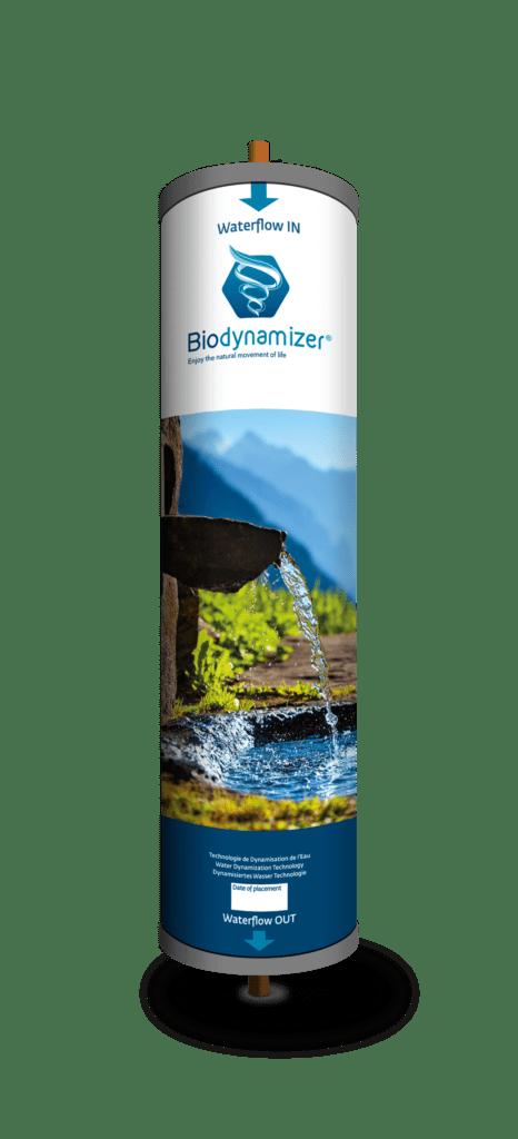 dynamiseur d'eau transformant l'eau du robinet en une eau équivalente à une eau de montagne