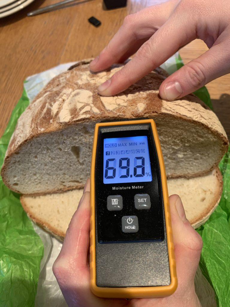 mesure de l'eau biodynamisée en boulangerie
